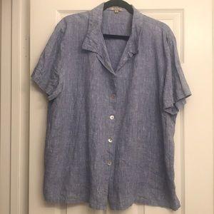 Vintage 100% line blouse women's